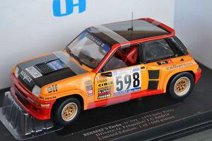 Uh Renault 5 Turbo n ° 598 du Rallye d'Italie 1979 4552 Universal Hobbies 1/18