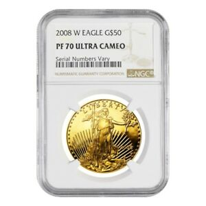 2008-W-1-oz-50-Proof-Gold-American-Eagle-NGC-PF-70-UCAM
