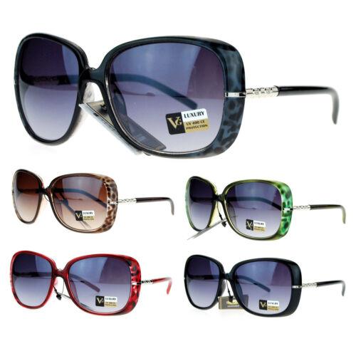 VG Eyewear Womens Jewel Rod Temple Celebrity Oversize Butterfly Sunglasses