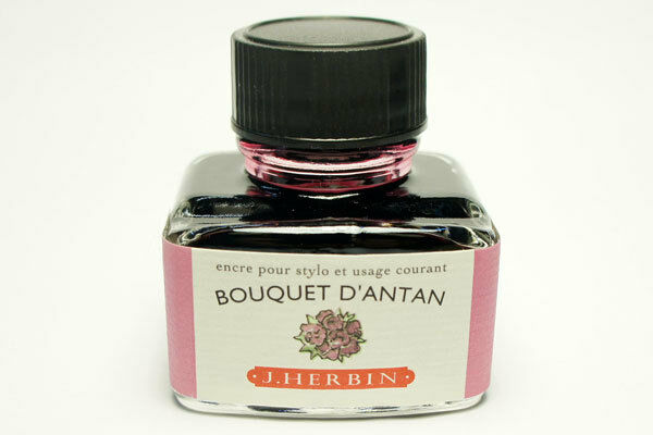 J Herbin Fountain Pen Ink Bottle // Bouquet d'Antan : Pink Bouquet of Old