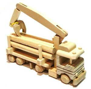 Handmade Wooden toy car formula 1 natural wood decoupage ecological