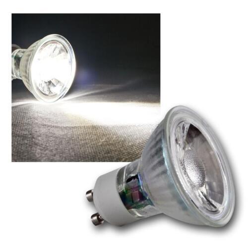 Strahler Birne Spot Reflektor 5 x GU10 LED Leuchtmittel 3W COB kaltweiß 250lm