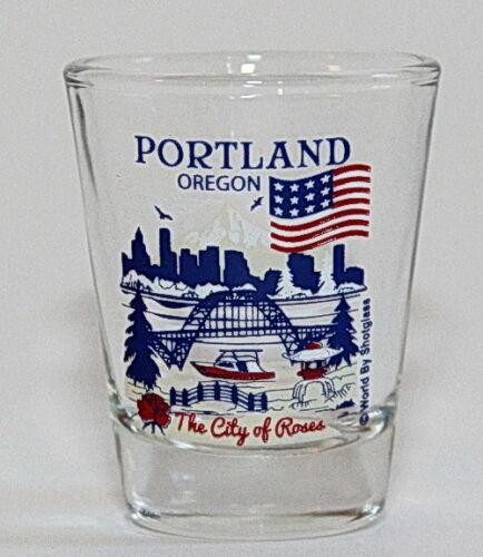 PORTLAND OREGON GREAT AMERICAN CITIES COLLECTION SHOT GLASS SHOTGLASS