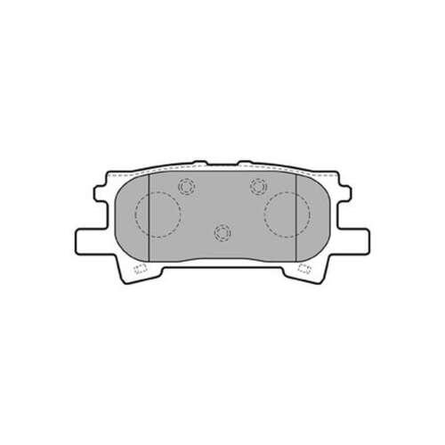 Se adapta a Lexus RX 400h Original Delphi Trasero Conjunto de Pastillas de freno