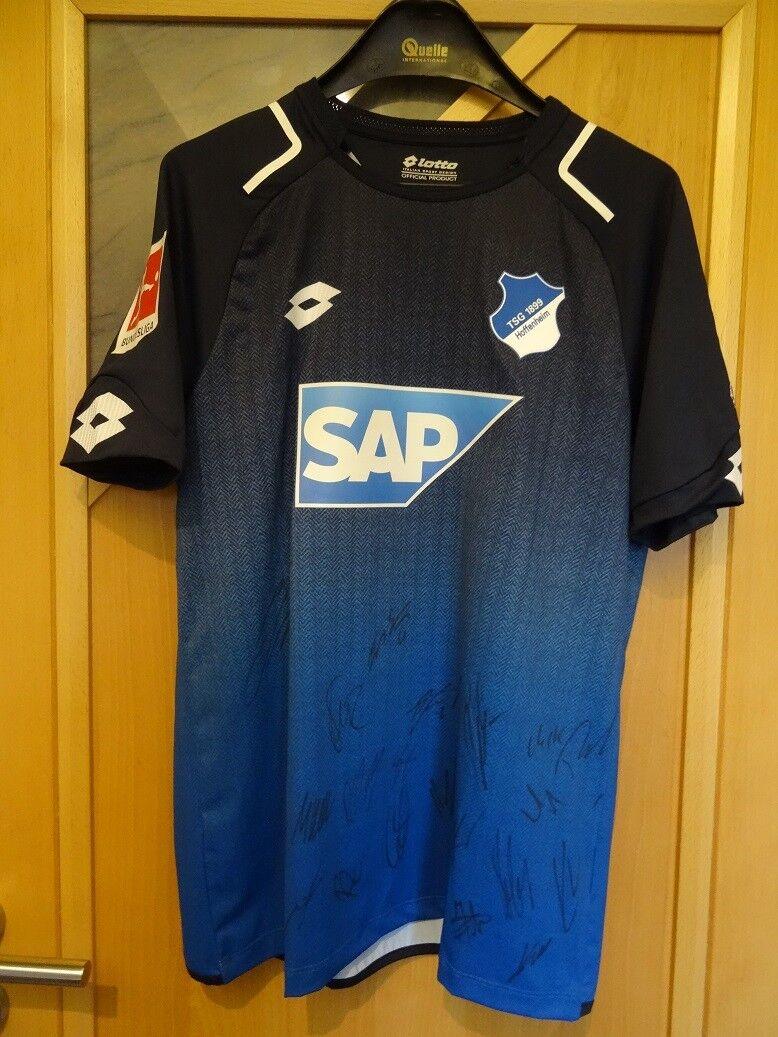Lotto Trikot TSG 1899 Hoffenheim SIGNIERT von der Mannschaft 2018 Größe M NEU    Bunt,