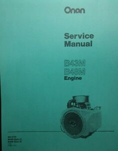 Details about Onan Service Manual B48M Engine 46pg Garden Tractor 18 hp  Sears Gravely Case