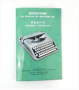 Empire Aristocrat / Baby Typewriter Manual (Off Label Hermes Rocket)