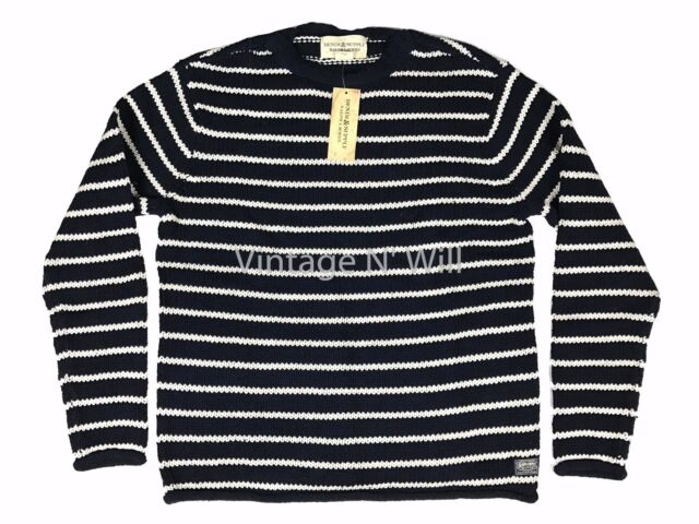 Denim Supply Ralph Lauren Mens Navy Bluewhite Striped Cotton