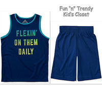 Ps Aeropostale Kids Boys Size 8 Or 10 Mesh Active Shorts & Tank Top 2-pc Set