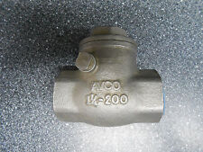 "AVCO 3226 1 1/4"" SWING VALVE 316 STAINLESS STEEL"