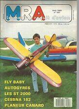 MRA N°597 CESSNA 182 / SUPER TIGRE 2000 / FLY-BABY / STERNE PLANEUR CANARD