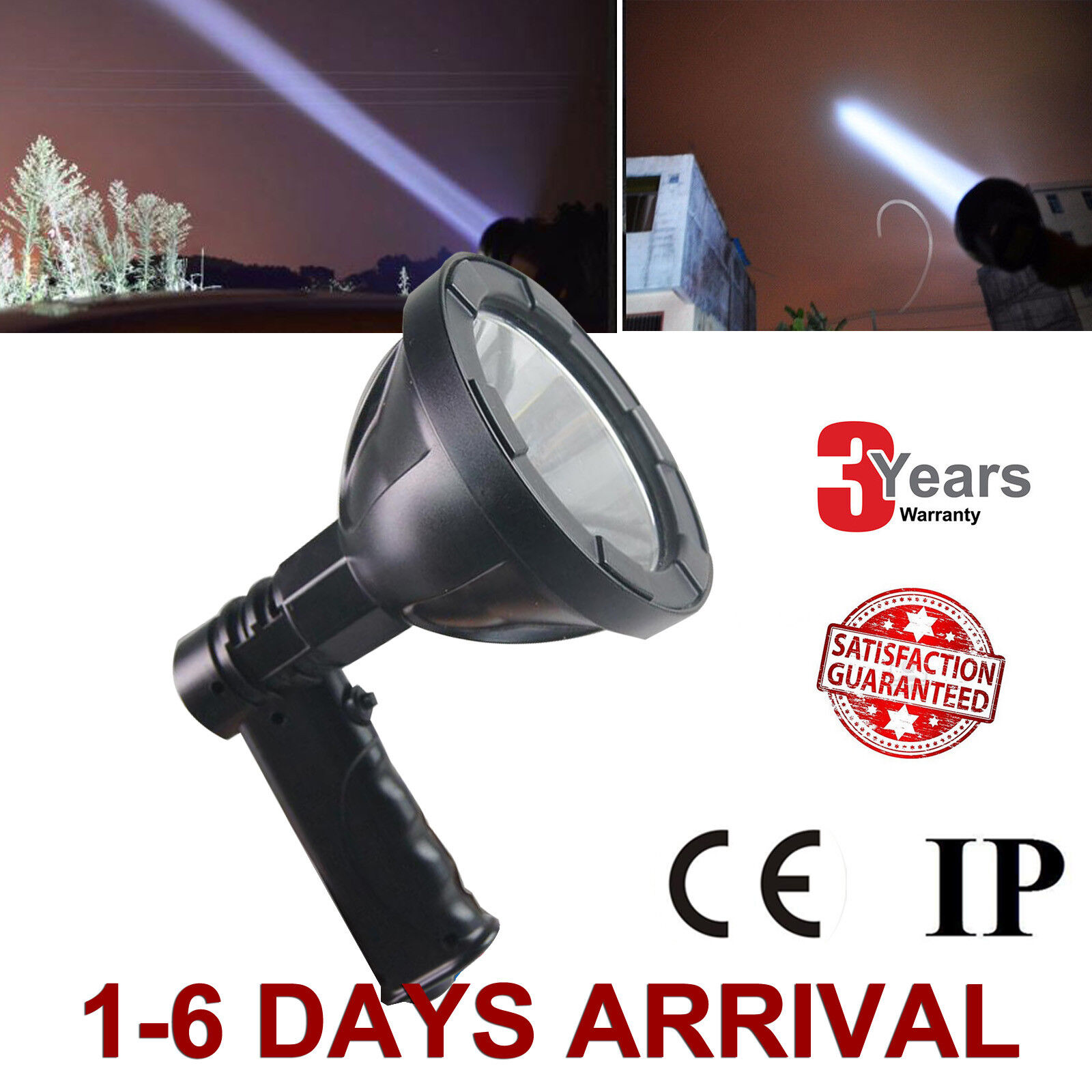 CREE LED 12V 800W Handheld Camping Spot Light Spotlight Hunting Fishing OffRoad