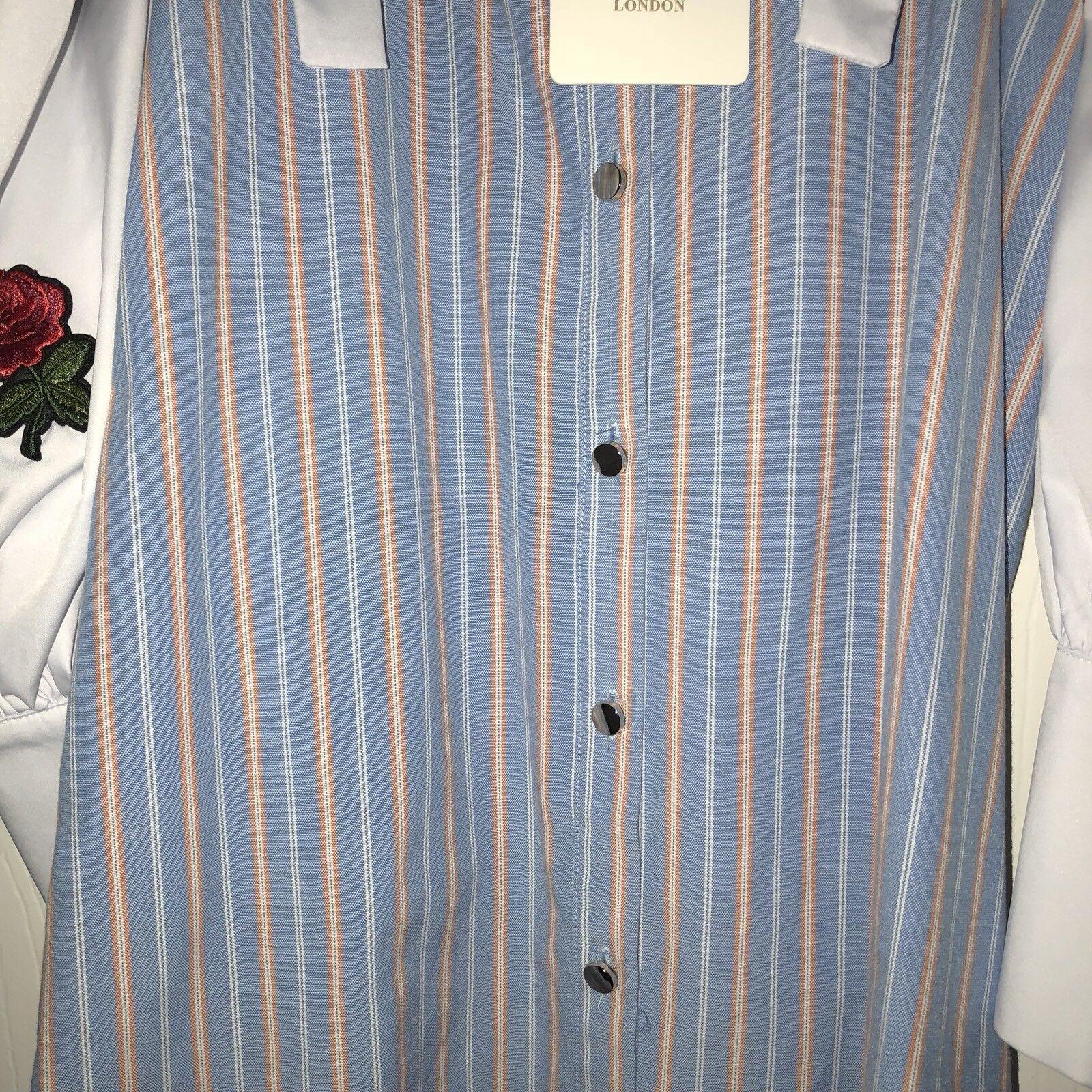 Cici London Topshop rosado Bordado Bordado Bordado una línea vestido 73a89c