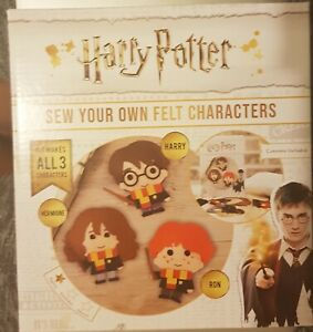NEW-Harry-Potter-Sew-Your-Own-Gift-Kit-Make-your-own-felt-Harry-Hermione-amp-Ron