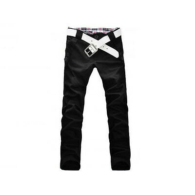 New Stylish Men's Slim Fit Straight Pencil Trousers Long Casual Pants 4 Colors