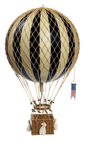 "Hot Air Balloon Model Black /& White 13/"" Aviation Hanging Ceiling Home Decor New"