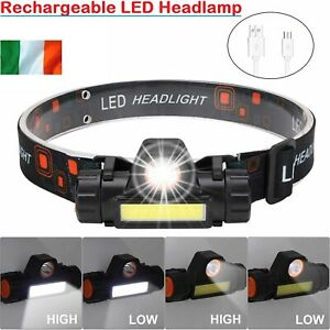 LED-Headlamp-USB-Rechargeable-Head-Torch-Flashlight-Headlight-Work-light-Bright
