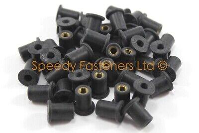 50x m4 4mm Thread 8mm OD Rubber Screen Well Nuts Fasteners Ducati Aprilia