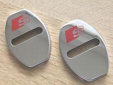 2pcs Audi S Line Door Lock Cover Chrome Buckle A1 A3 A4 A5 A6 A7 S1 S3 S4 TT S5