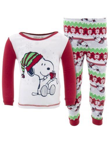 Snoopy Toddler Girls Red White Christmas Pajamas