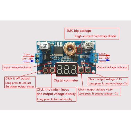 DC-DC Conveter Buck Module Digital Control Regulator 5-36V to 1.2-32V 12v 5v 9v
