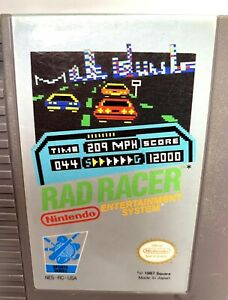 Rad Racer NES Nintendo Game White Oval Seal 1987 Japan Nice