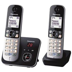Panasonic-KX-TG6822GB-DECT-Schnurlostelefon-AB-Set-Basis-2-Mobilteile-schwarz
