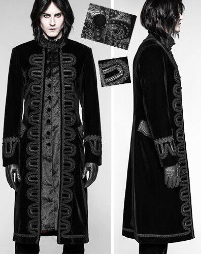 Manteau velours baroque gothique victorien broderie jacquard rétro PunkRave Homm