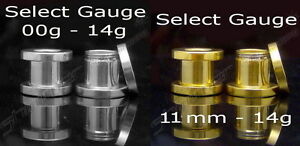 SCREW-ON-FLESH-TUNNEL-GOLD-PLATED-OR-SURGICAL-STEEL-STRETCHER-CLEARANCE