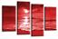 Sunset-Seascape-Wall-Art-Grey-Red-Cream-Landscape-Beach-Canvas-Split-Picture thumbnail 3