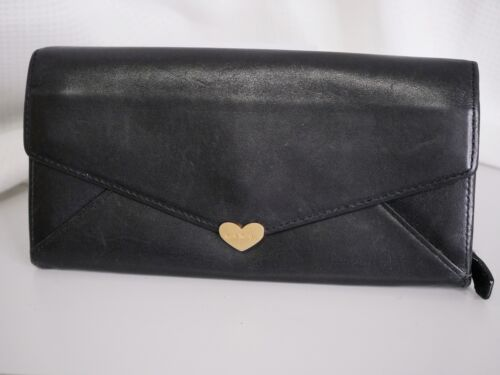 Paul Smith wallet purse black gold Authentic #3961