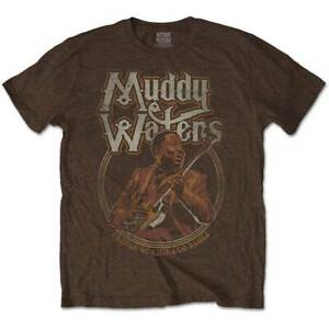 Muddy-Waters-pere-Chicago-Homme-T-Shirt-Sable-Unisexe-Official-Licensed-Merch