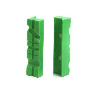 """3 1//2/"""" Aluminum Magnetic Soft Jaw Pipe Pads for Metal Vise Attachment Padded"""