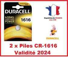 2 Piles CR-1616 DURACELL bouton Lithium 3V DLC 2023