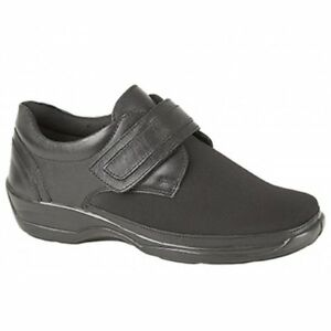59c711a5462 Image is loading Womens-Ladies-Soft-Leather-Velcro-Comfort-Stretch-Extra-