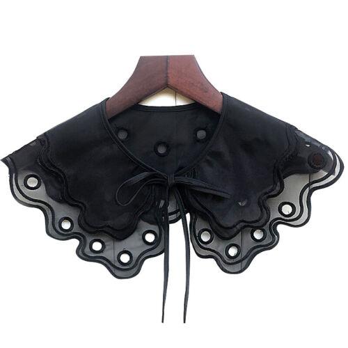 Embroider Fake collar Detachable Lapel False Blouse Removable Women  WY
