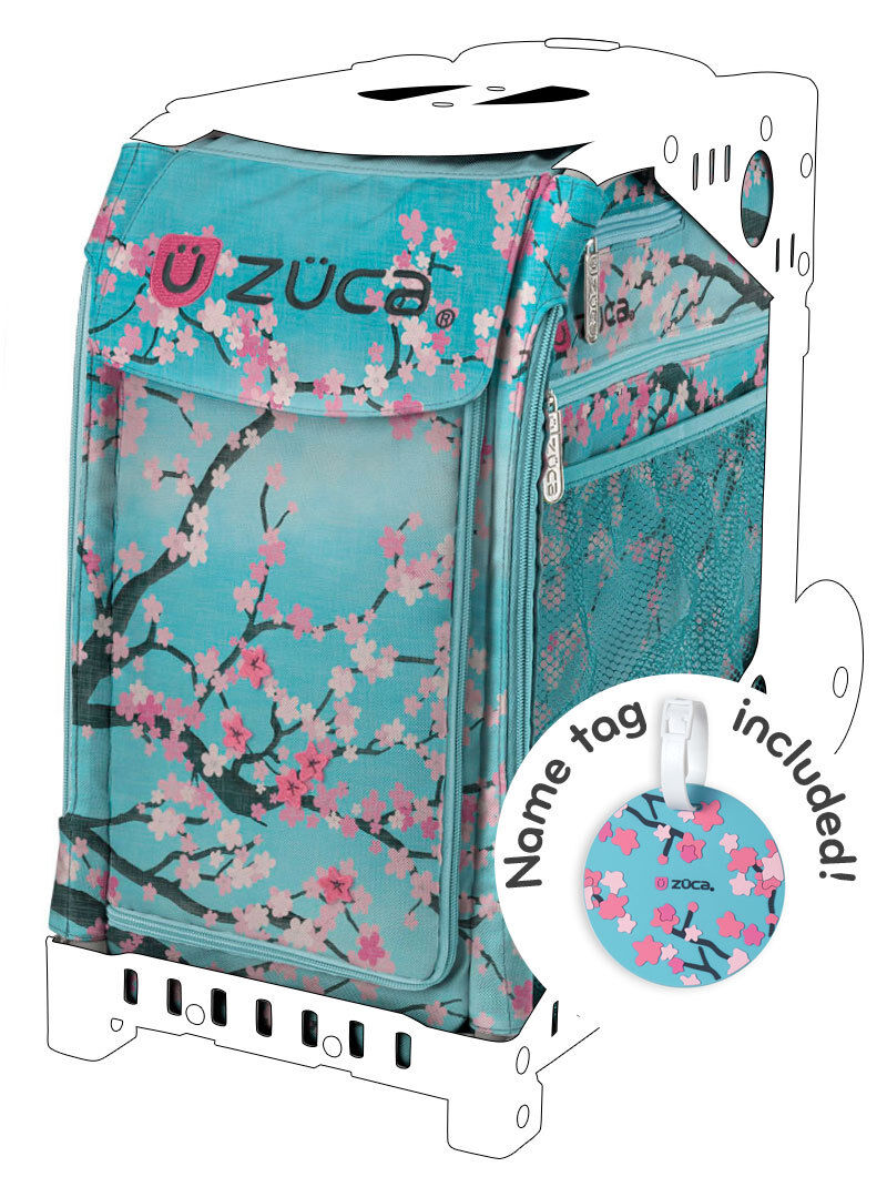 ZUCA Sports Insert Bag - HANAMI - Free Name Tag -  NEW - NO FRAME INCLUDED