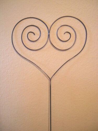 40 cm Metallherz Ø ca NEU ! Herz aus Metall mit Schnörkel Gartenstecker