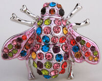 Bee Stretch Ring Cute Animal Bling Jewelry Gift 1 Dropshipping Multi-color