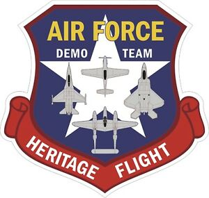 US-Air-Force-USAF-Demo-Team-Heritage-Flight-Decal-Sticker