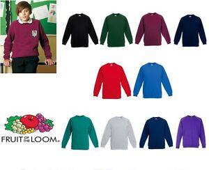 Fruit-of-the-Loom-Kid-039-s-raglan-sweatshirt-All-Sizes