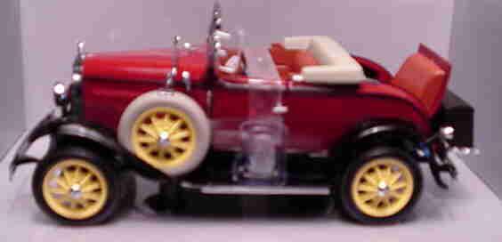 1931 ford model a roadster rote 1,18 motor city - klassiker 20009