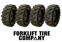 10x16.5 Quality Skid Steer Solid Tires And Wheels (4) 30x10x16