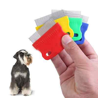 Cute Pet Dog Cat Clean Grooming Tool Steel Small Fine Toothed Comb Catching Lice