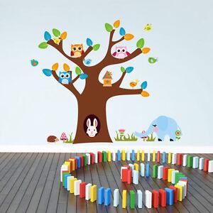 Wandtattoo-Wandaufkleber-Baum-Eulen-Hase-Elefant-Wandsticker-Kinderzimmer-90