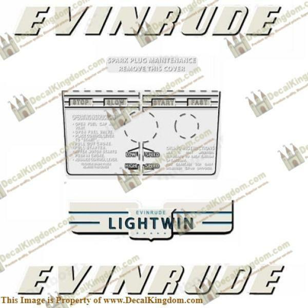 Evinrude 1952 3hp Outboard Decal Kit 3M Marine Grade