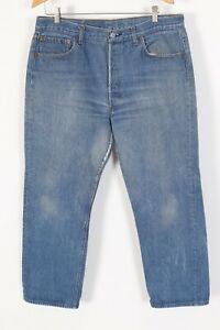 Vintage-LEVI-039-S-501-XX-Button-Fly-HIGE-Denim-Jeans-USA-Mens-Size-35x28
