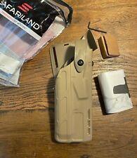 Safariland 7365 Alssls Level 3 7ts Rh Fde Duty Holster Glock 20 21 With Light