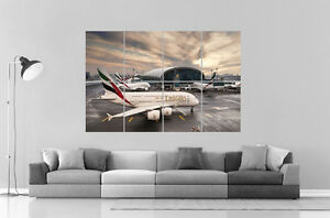 Airbus A380 Emirates Airlines Wall Poster Grand format A0 Large Print