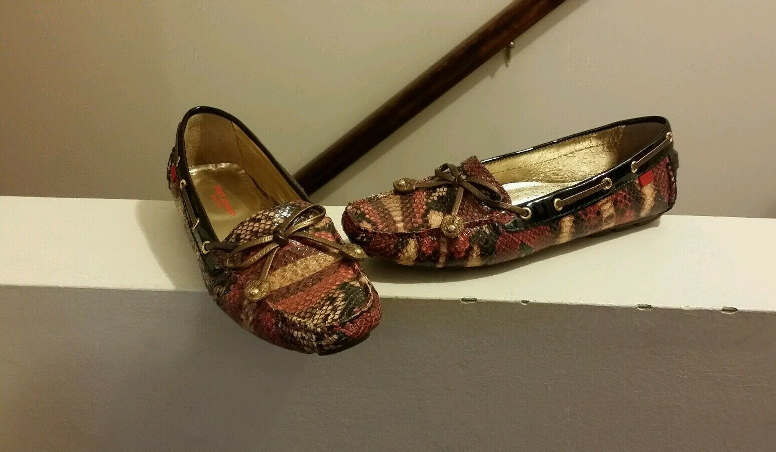 Marc Joseph Cypress Hill Rare Snakeskin Moccasin Size 6.5 shoes